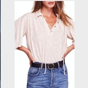 NWT - Free People Rush Hour Blouse Top